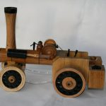 wood traction engine