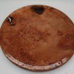 Platter London Plane Burr turned on wood lathe
