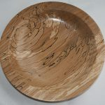 platter spalted beech turned on wood lathe
