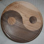 Yin Yang Platter in maple and walnut