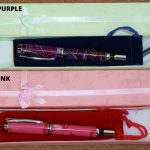 Fountain pens in coloured acrylic