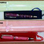 fountain pens in bright acrylic handmade