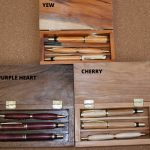 Pen sets in wood box handmade on wood lathe