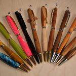 pens biro style made on the wood lathe