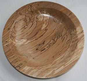 Platter in spalted beech