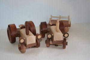 wood tractors handmade in hardwood