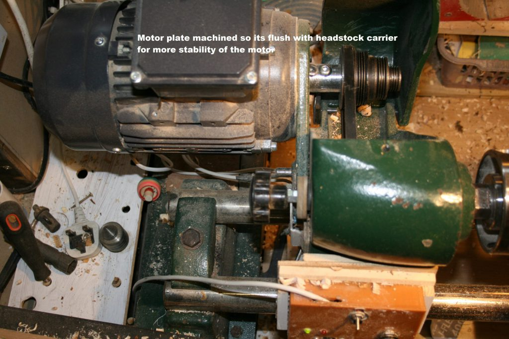 Motor mounting on cl1 lathe