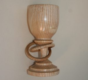 Goblet in Ash with captive rings