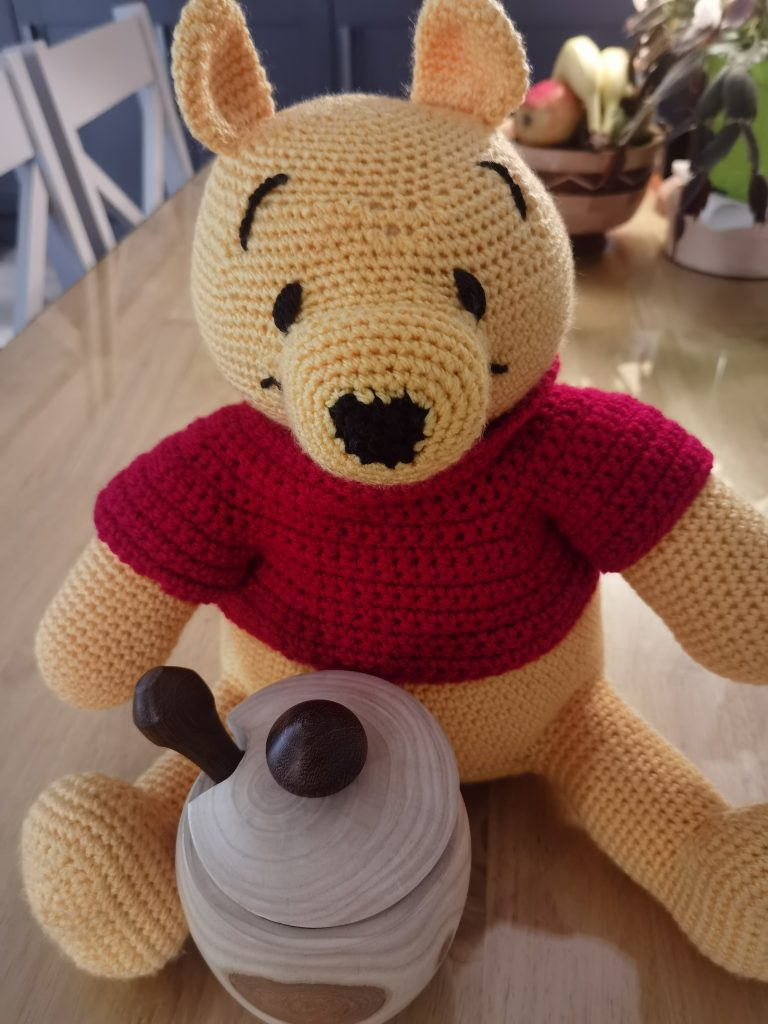 Pooh with honey pot