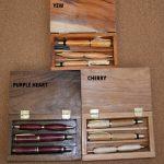 Pen sets in wood box