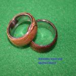 wood rings in spalted beech
