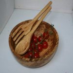 Salad bowl in spalted beech